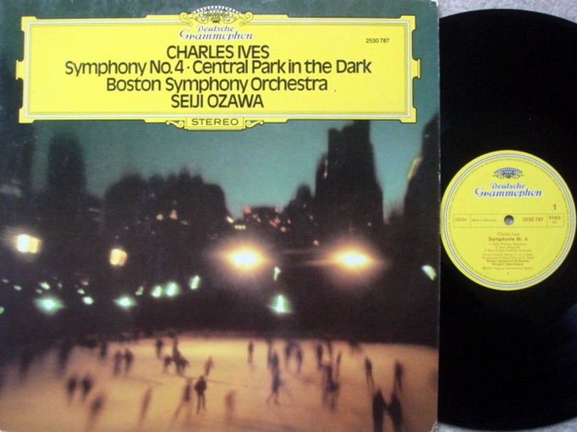 DG / SEIJI OZAWA-BSO, - Ives Symphony No.4, Cenral Park in the Dark, NM!