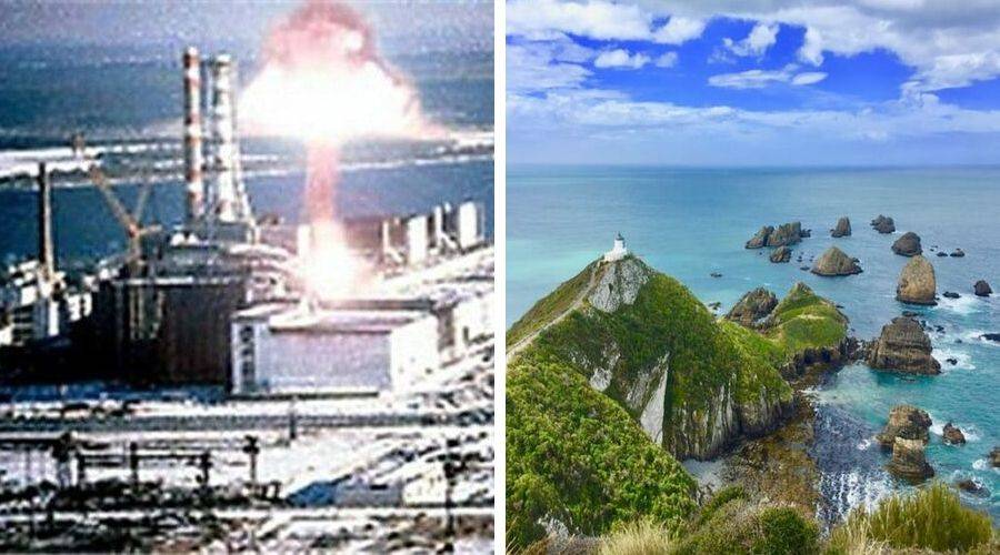 Chernobyl explosion vs new zealand nature