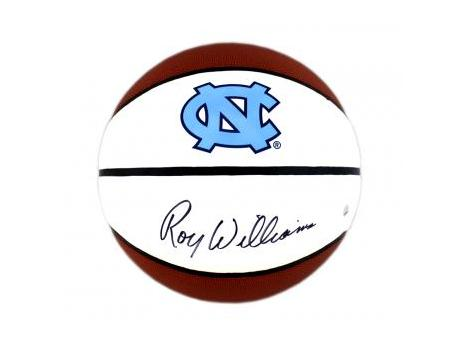 Basketball signed by UNC Coach Roy Williams