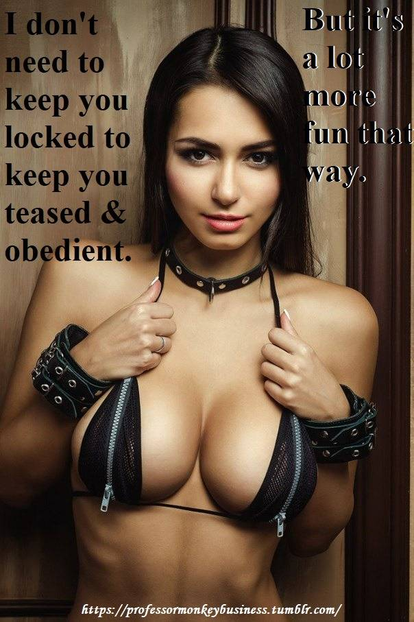 Chastity caption 49