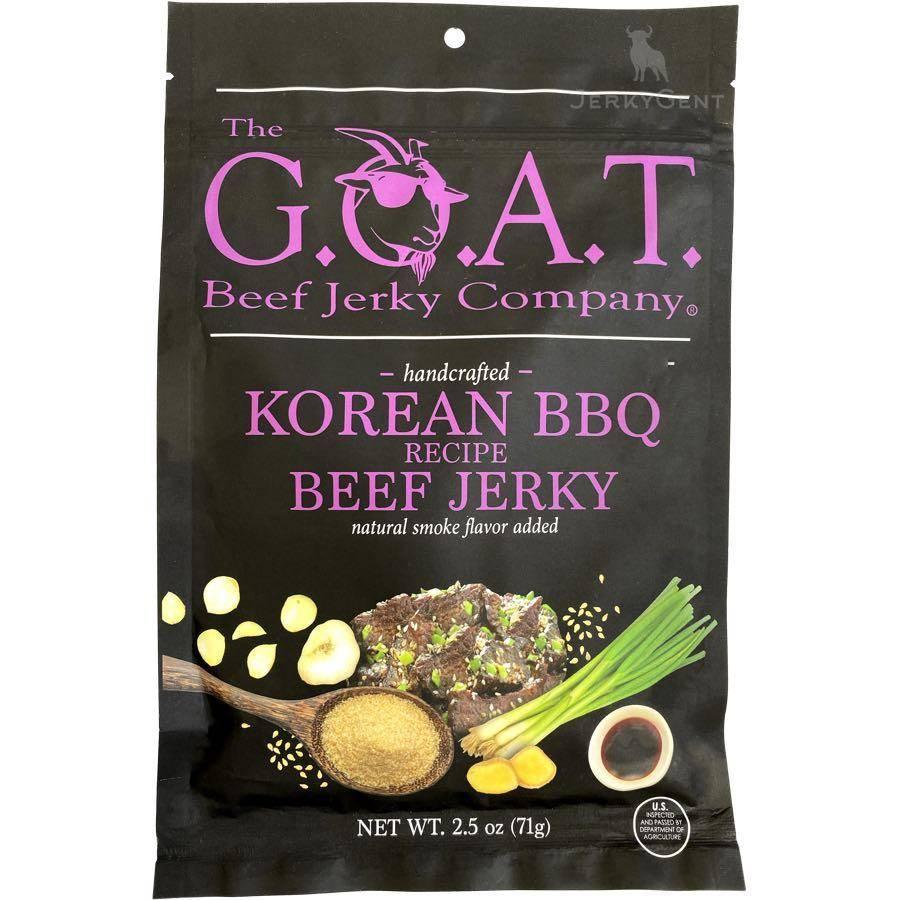 The GOAT Korean BBQ BEEF JERKY