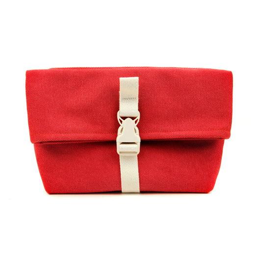 Поясная сумка из канваса, красная, оригинальная