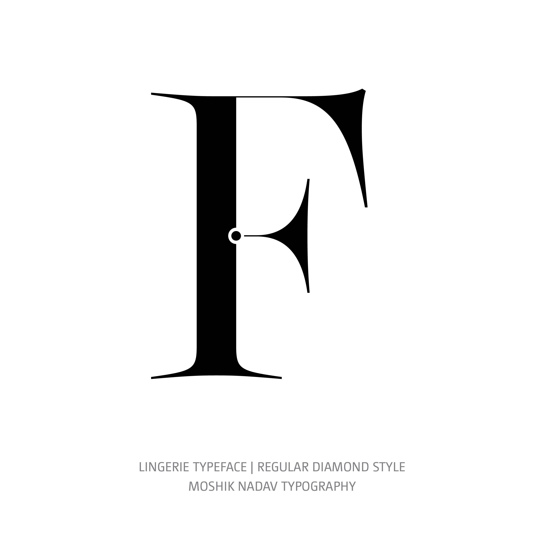 Lingerie Typeface Regular Diamond F
