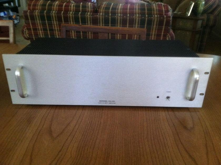 Berning EA-230 triode stereo tube amplifier (NY)