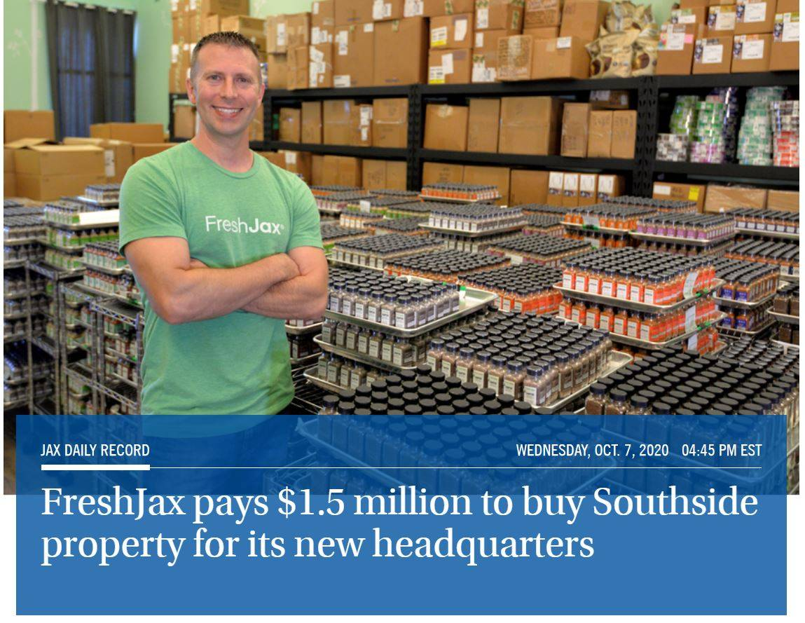 FreshJax pays 1.5 million dollars to buy Southside property for its new headquarters
