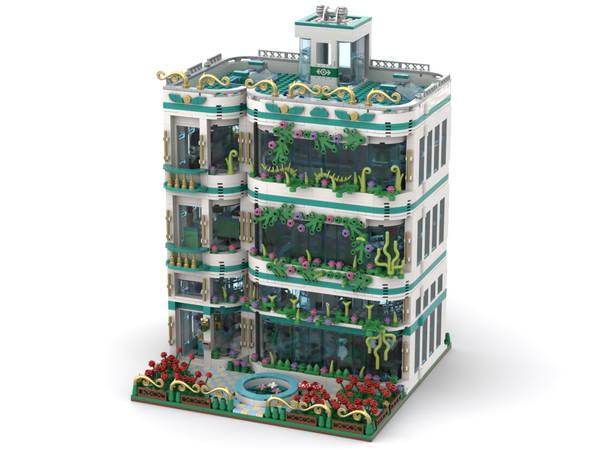 lego Botanical Garden & Research Laboratory (Hinge-Open Modular)
