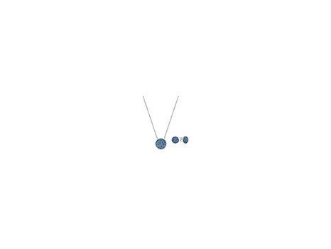 Swarovski Blue Crystal Pendant & Earring Set