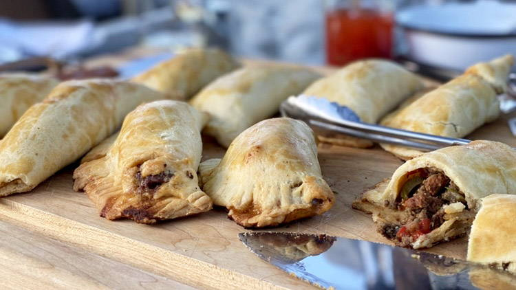 Homemade beef & chorizo empanada recipe
