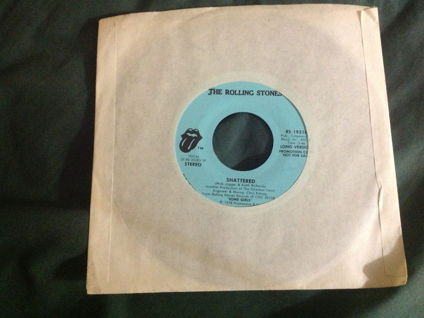 Rolling Stones - Shattered Promo 45 Long/Short Version