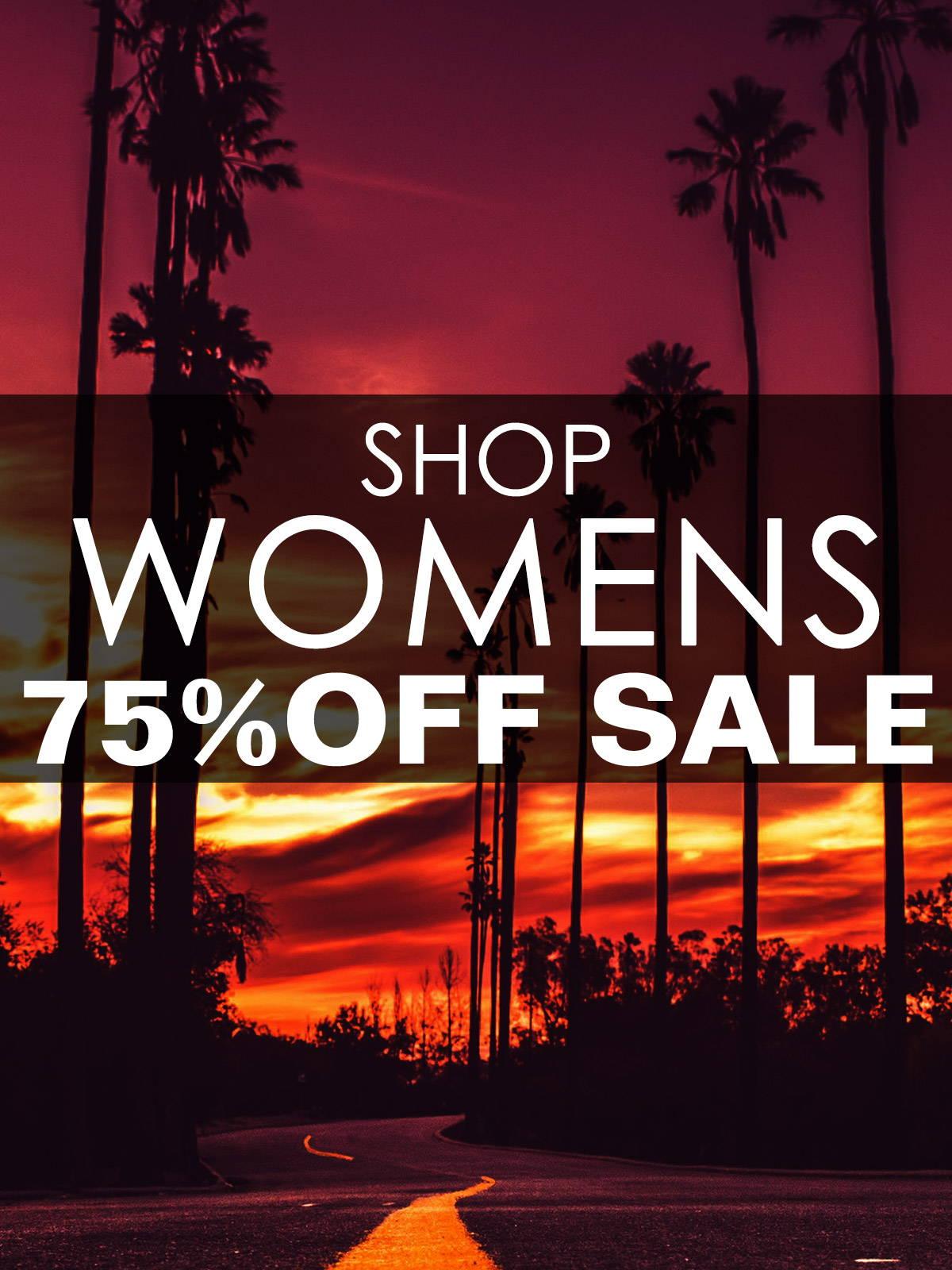 Shop the Womens 75% Off Sale