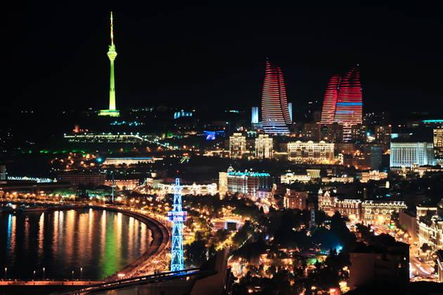 Баку - вечерний