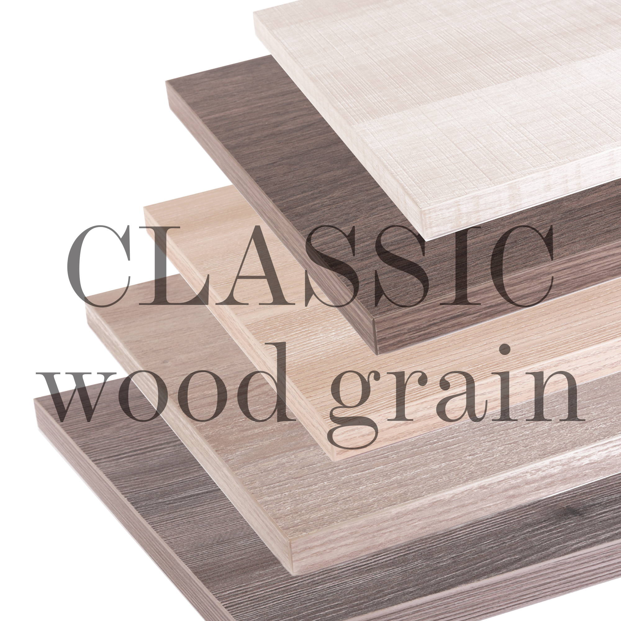 Classic Wood Grain Shelves