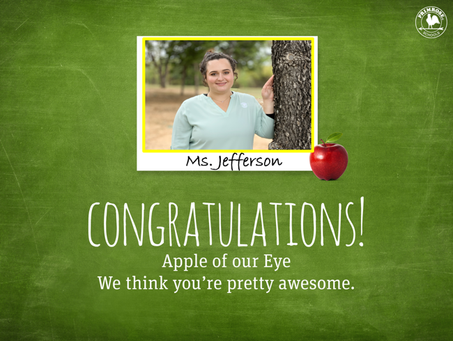 Ms. Jefferson Apple of Our Eye