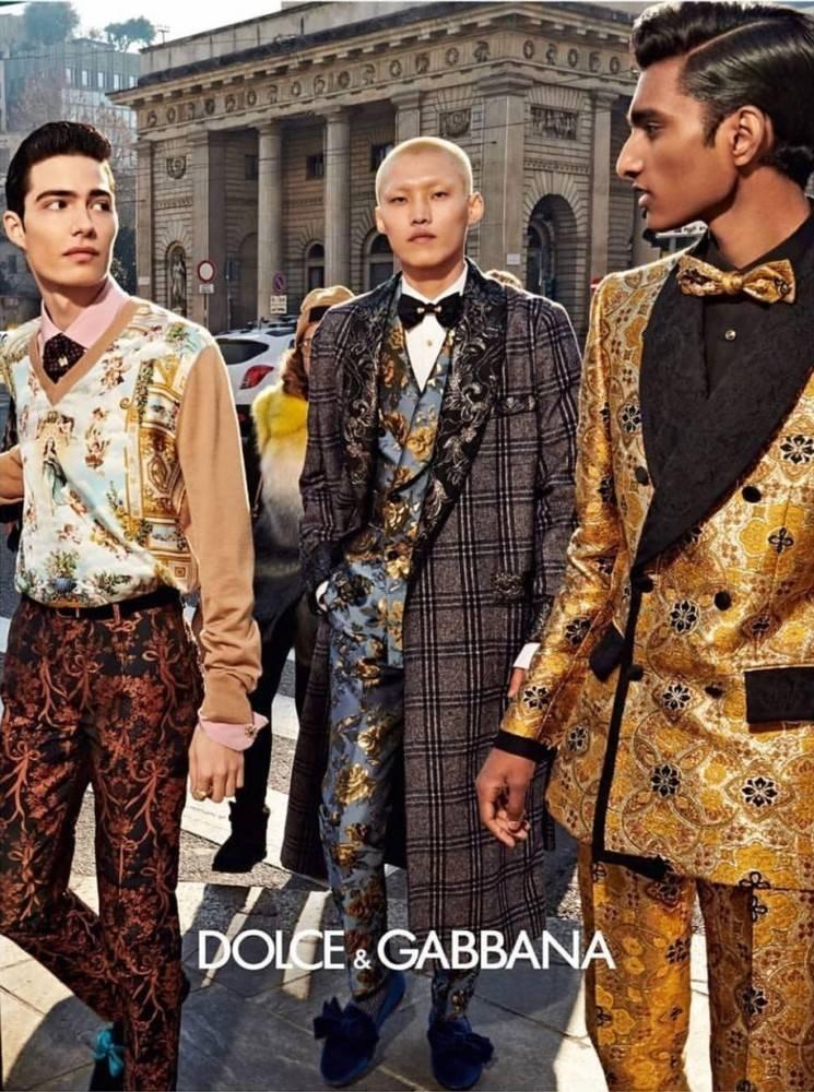 dolce gabbana men collection