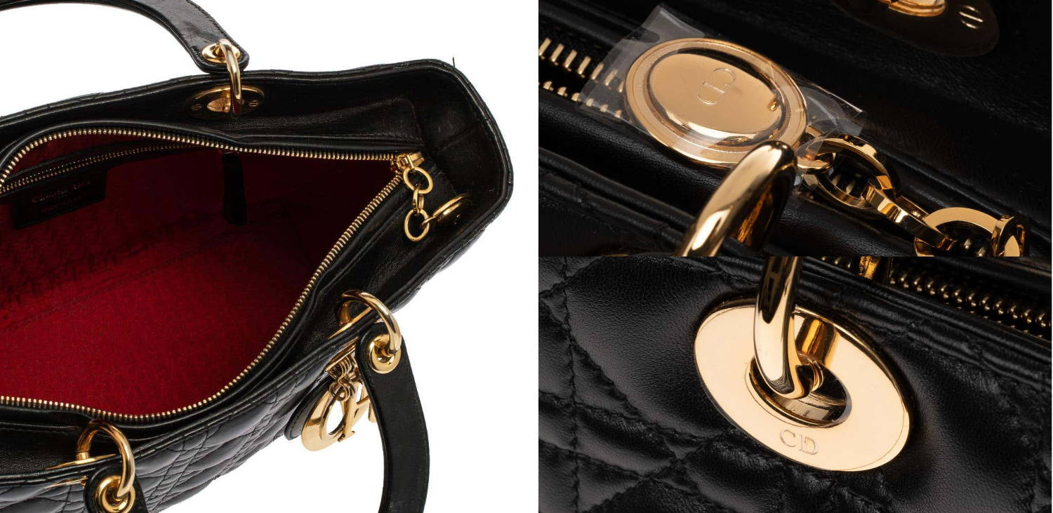 Lady Dior bag zipper