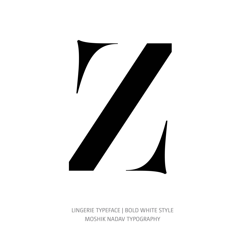 Lingerie Typeface Bold White Z