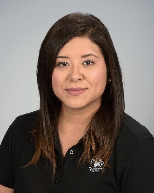 Jennifer Medrano, a preschool teacher in the Pre-K program at Primrose School of Barker Cypress