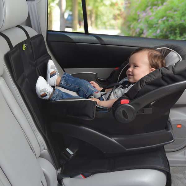 child with car seat protector