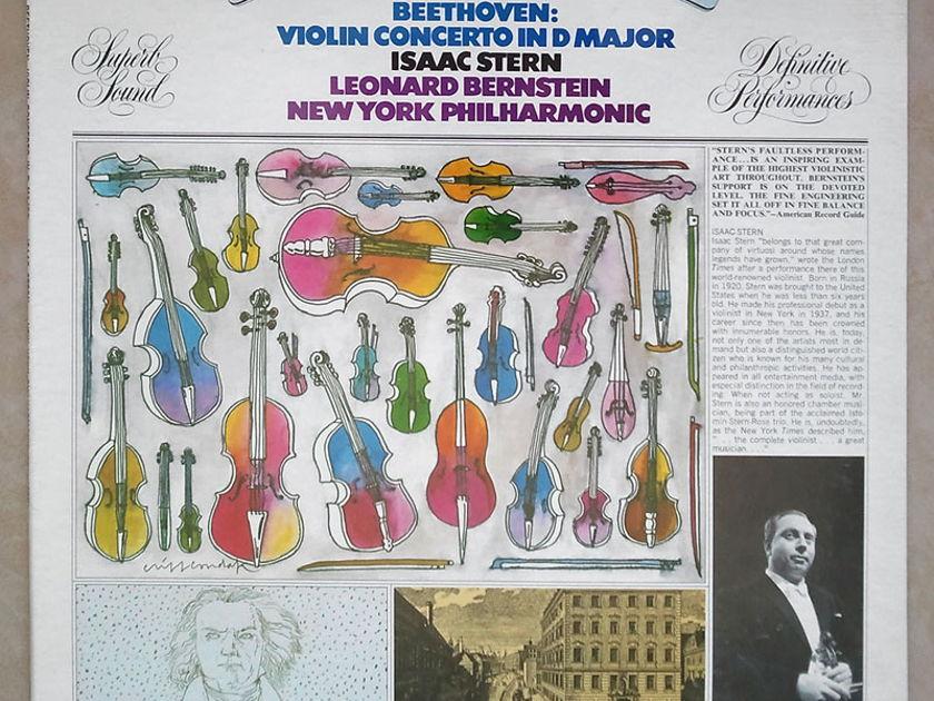 COLUMBIA | STERN/BERNSTEIN/BEETHOVEN - Violin Concerto