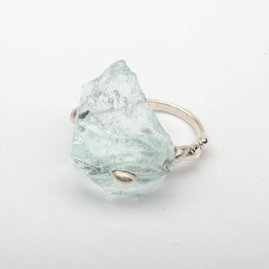 Кольцо из стекла Живая вода