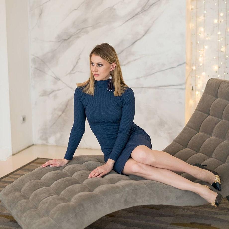 Синее платье-лапша Made By