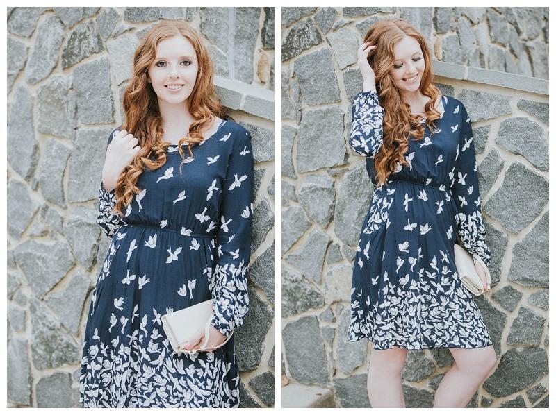 boho bird dress-birds-bird lover-navy dress- comfy cute-dress-classic dress-ellicott city maryland-girls night outfits-date night