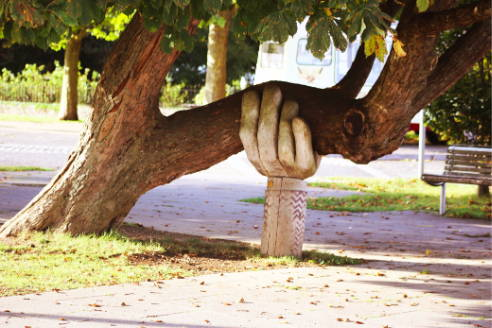 Supported Tree with hand