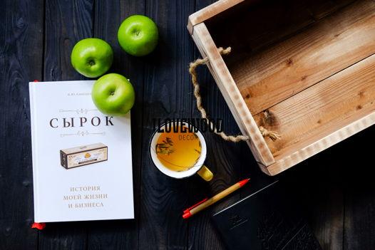 Деревянный ящик в стиле лофт, состаренный.