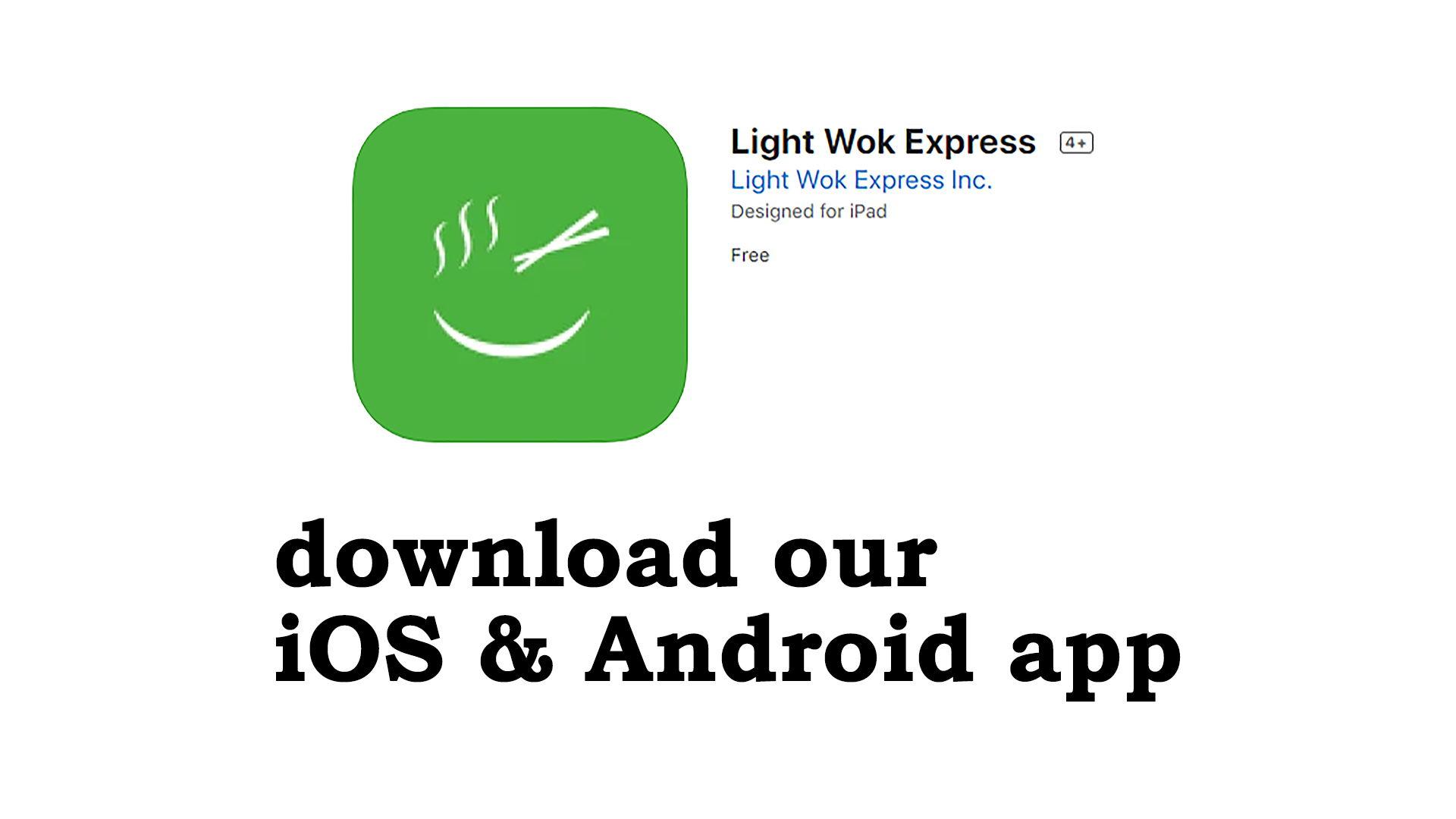 Logo - Light Wok Express - Pre Order Online, Pick Up in Store