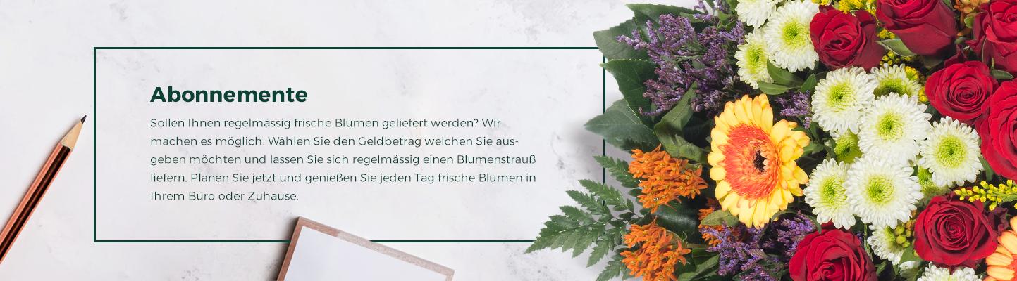 Jeden Tag frische Blumen in Ihrem Buro oder Zuhause mit unsere Abonnemente