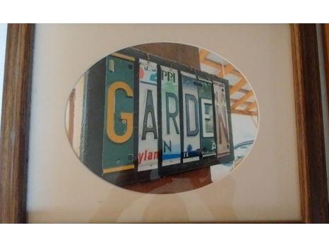 Photograph of GARDEN Sign