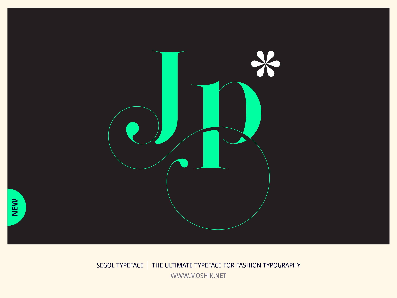 Segol Typeface, Fashion fonts, Fashion logos, Fashion typeface, new font, Moshik Nadav, sexy fonts, JP, ligatures