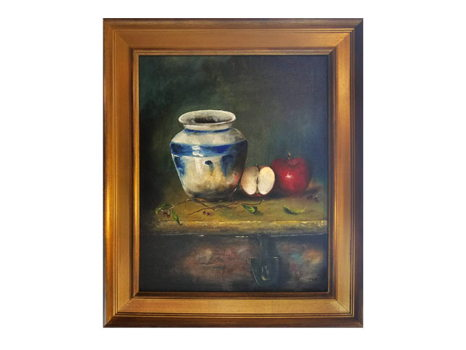 """""""Blue Vase with Apples"""""""