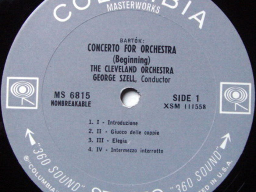 Columbia 2-EYE / SZELL, - Bartok Concerto for Orchestra, NM!