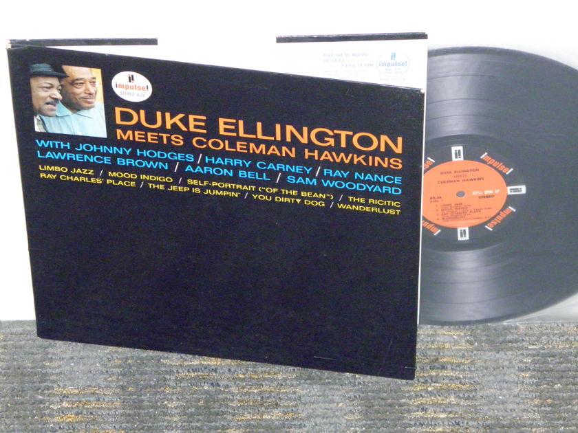 "Ellington/Hawkins ""Duke Ellington Meets Coleman  - Hawkins Impulse AS-24 Stereo Orange/Black labels"