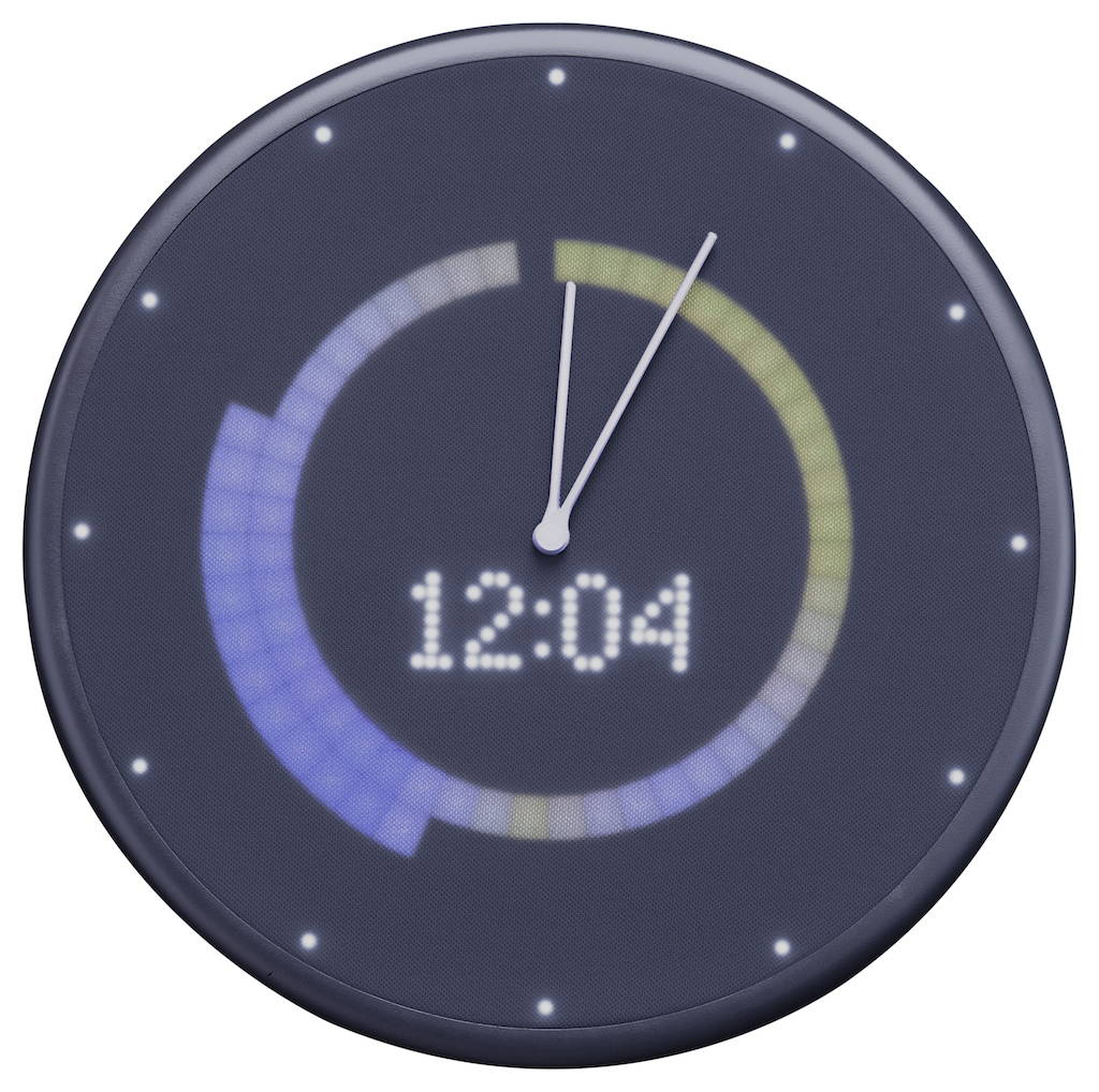 Glance clock Weather Temperature Range