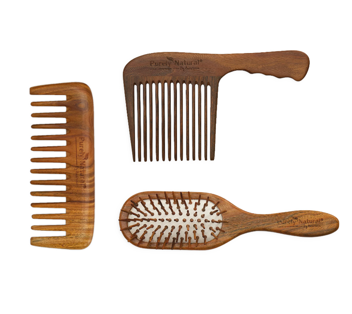 Sandalwood Hair Combs from Purely Natural by Anastasia