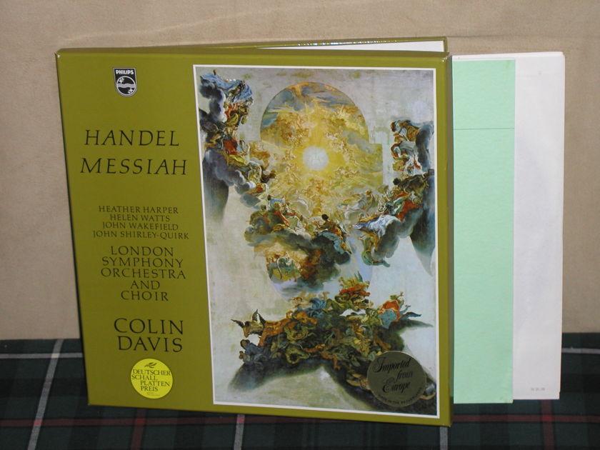 Davis/LSO&C - Handel Messiah 3LP Boxset Philips Import Holland LP