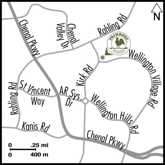 Map explaining the school location