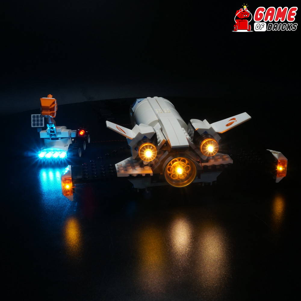 lego led light for mars research shuttle