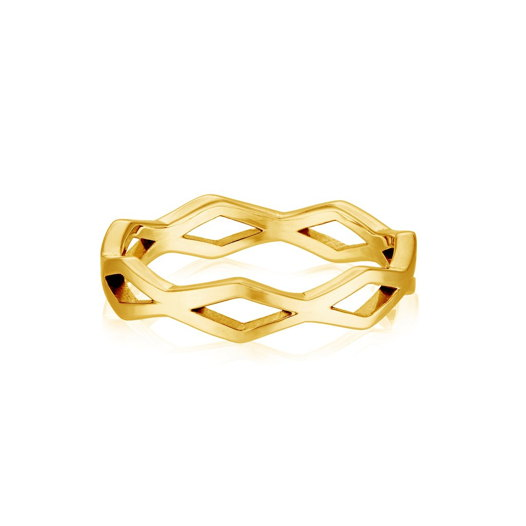 Кольцо MANA с узором (золото)