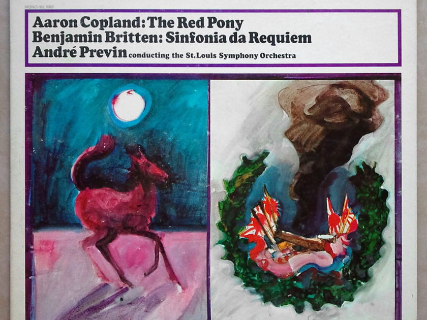 COLUMBIA 2-EYE/Previn/BRITTEN - Sinfonia da Requiem, COPLAND The Red Pony / EX