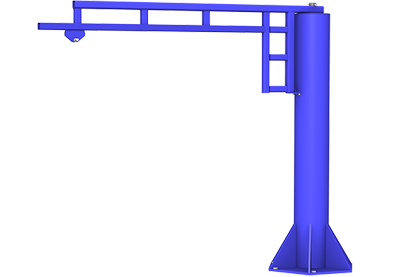 potence autoportante gorbel free standing jib crane