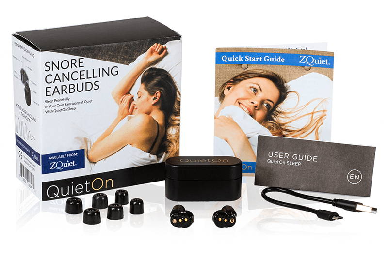 QuietOn Active snoring cancelling earbuds