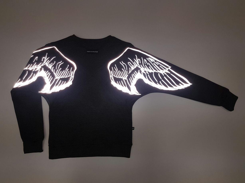 """Свитшот """"Х"""" с светоотражающими крыльями"""