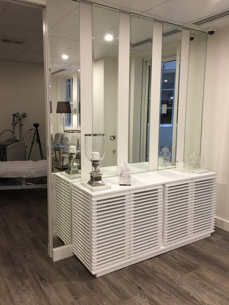 Display bench at  our Australian Skin Clinic