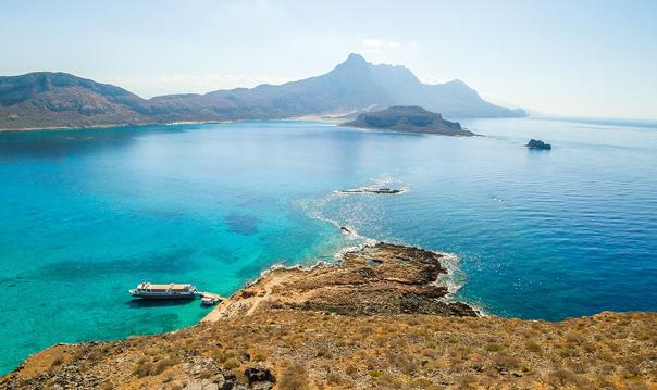 Из Ханьи: тур на весь день к острову Грамвуса и бухте Балос.
