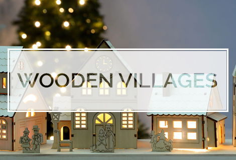 Christmas Wooden Villages
