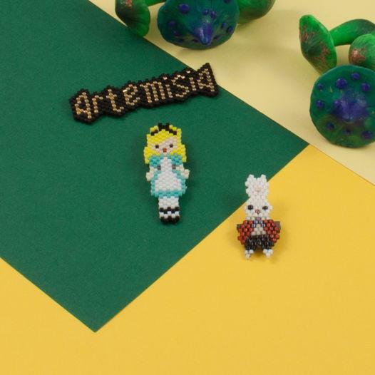 Сет значков Следуй за белым кроликом Алиса в стране чудес