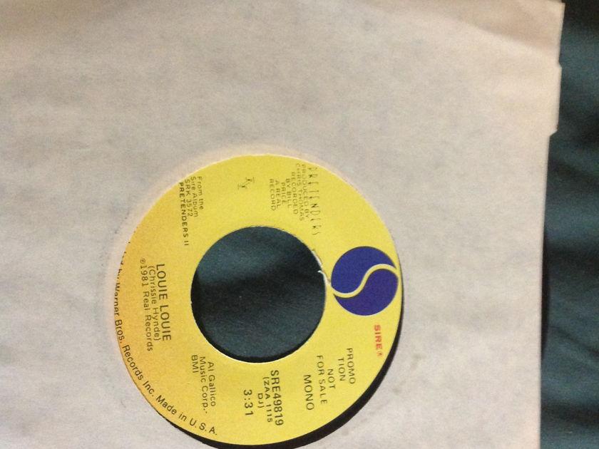 Pretenders - Louie Louie Promo 45 Mono Stereo